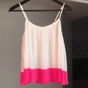 Pink & White Camisole Top